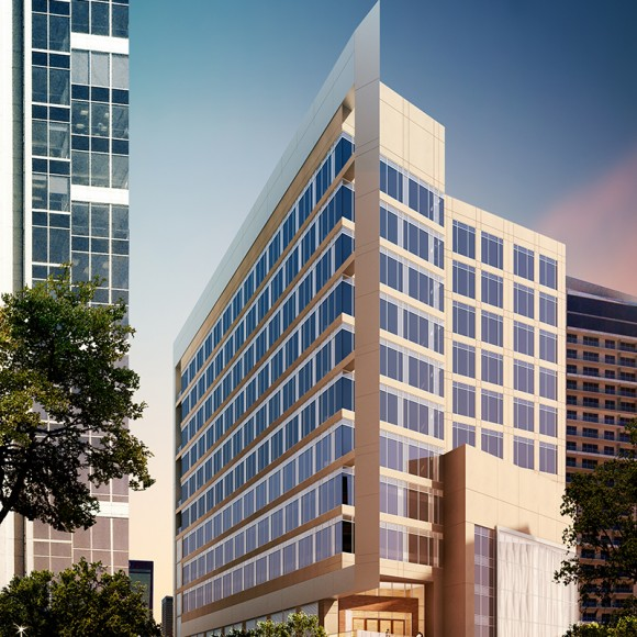 1920 McKinney- a 15-level, 115,104 square-foot office tower located in the Uptown neighborhood of Dallas. The project also includes a 470-car, 214,345 square-foot above and below grade parking garage.