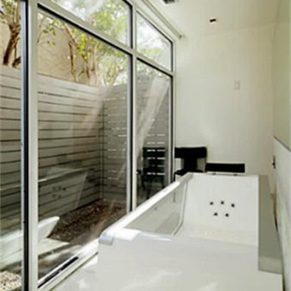 Architectural storefront glass in residential application.