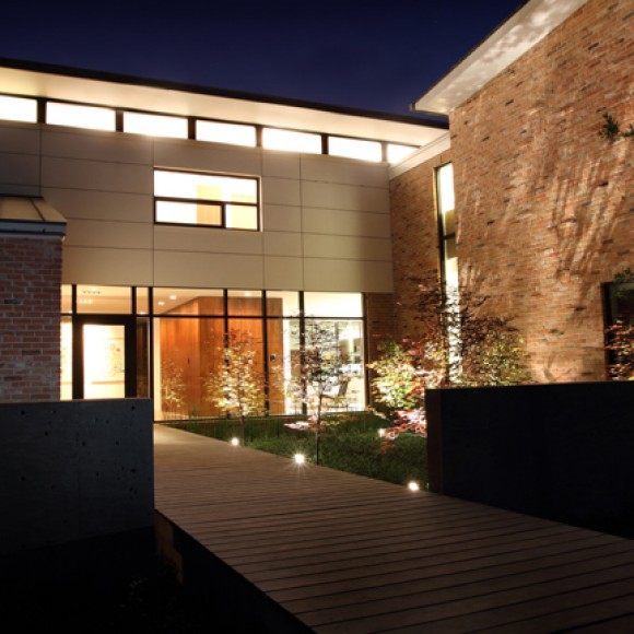 """The """"Before House"""" successfully delivers the client's taste for modernism while fitting into a Dallas Conservation Disctrict.  Adundant natural light, SIPs roof panels, spray-in foam insulation, and concrete floors create an inviting, energy efficient and east to maintain residence. Matt Callahan Photography"""