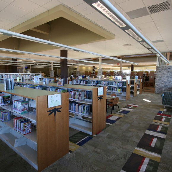 John and Judy Gay Library, McKinney, TX Reading Room