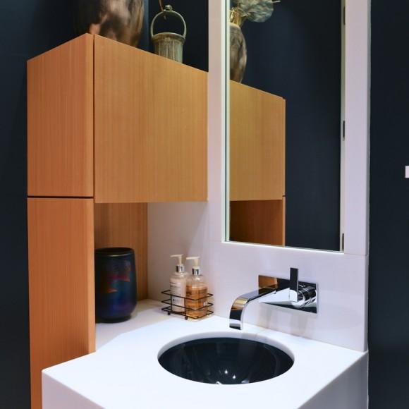 Contemporary powder bath renovation