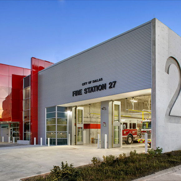 Fire Station 27 - City of Dallas Honor Award, AIA Dallas, 2016 Juror Commendation Award, AIA Dallas, 2012