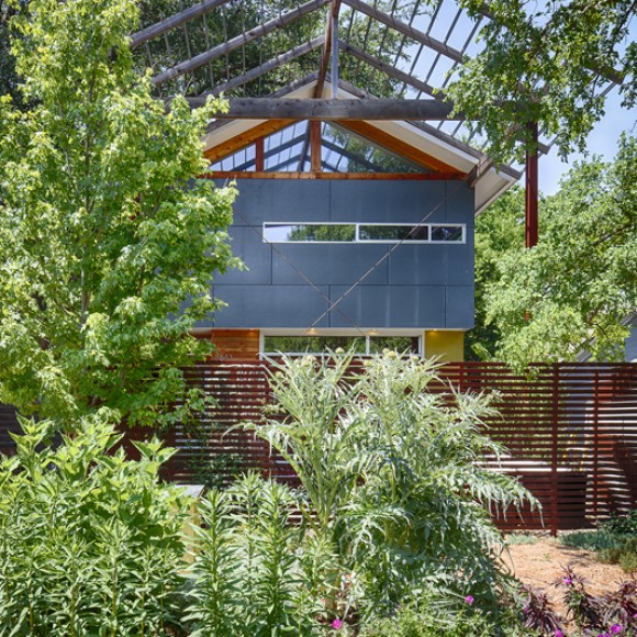 This small house in East Dallas was completed while employed at TKTR Architects