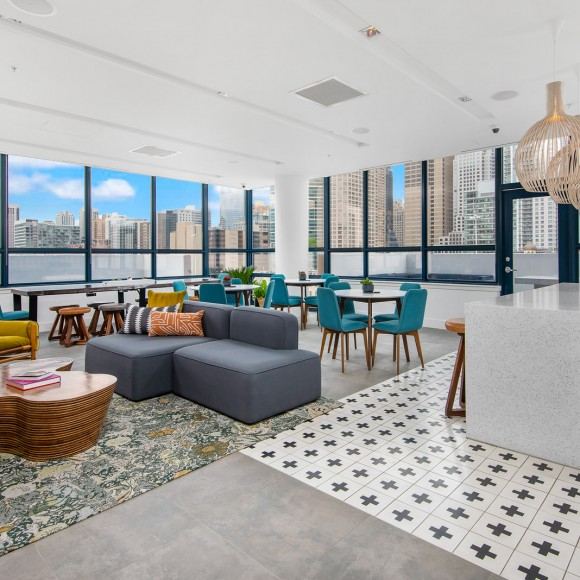 BKV Group turned Arkadia West Loop's blank canvas into a work of art by adding color, pattern, and texture into each space – both interior and exterior – to create a vibrant and lively series of spaces that exudes personality for days. The Bozzuto Group & BKV Group