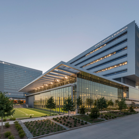 Baylor Scott & White Sports Therapy and Research at The Star Build Design Honor Award, AIA Dallas 2019