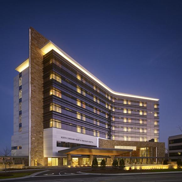 UNC REX Healthcare | North Carolina Heart & Vascular Hospital Hedrich Blessing Photographers