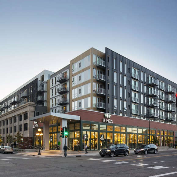 The Penfield is an exciting new mixed-use project located in the heart of downtown Saint Paul.  The Penfield design preserved the historic structure's south and west exterior façades and incorporated them into the new development.