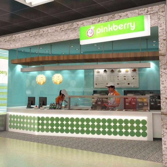 Pinkberry - Restaurant - Logan Airport Zebra