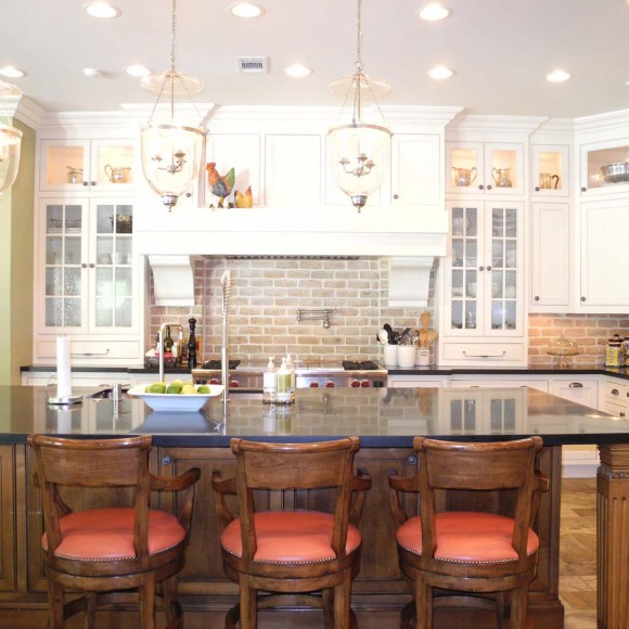 Complete transformation of an existing 5,700 square foot house into a 11,000 square foot 'Bahamas style' residence, including a total facelift and stunning new kitchen design.  Winner of Houston House & Home magazine's Kitchen Contest, December 2014.
